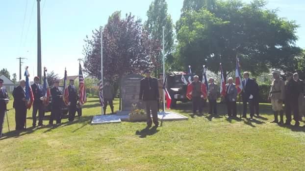 Commémoration de la stèle à Vallères 23 juin 2018